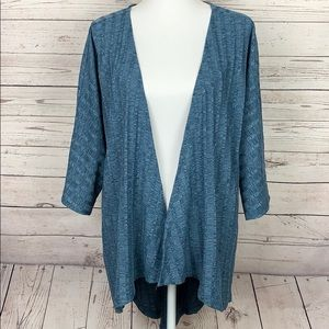 LulaRoe Long Open Front Jacket Grayish Blue